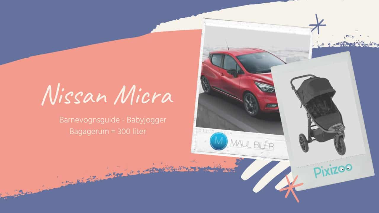 Nissan Micra bagagerum - Barnevognsguide