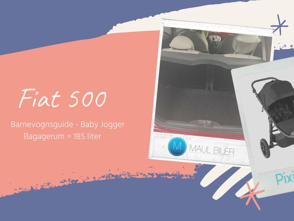 Fiat 500 - Er der plads til en barnevogn?
