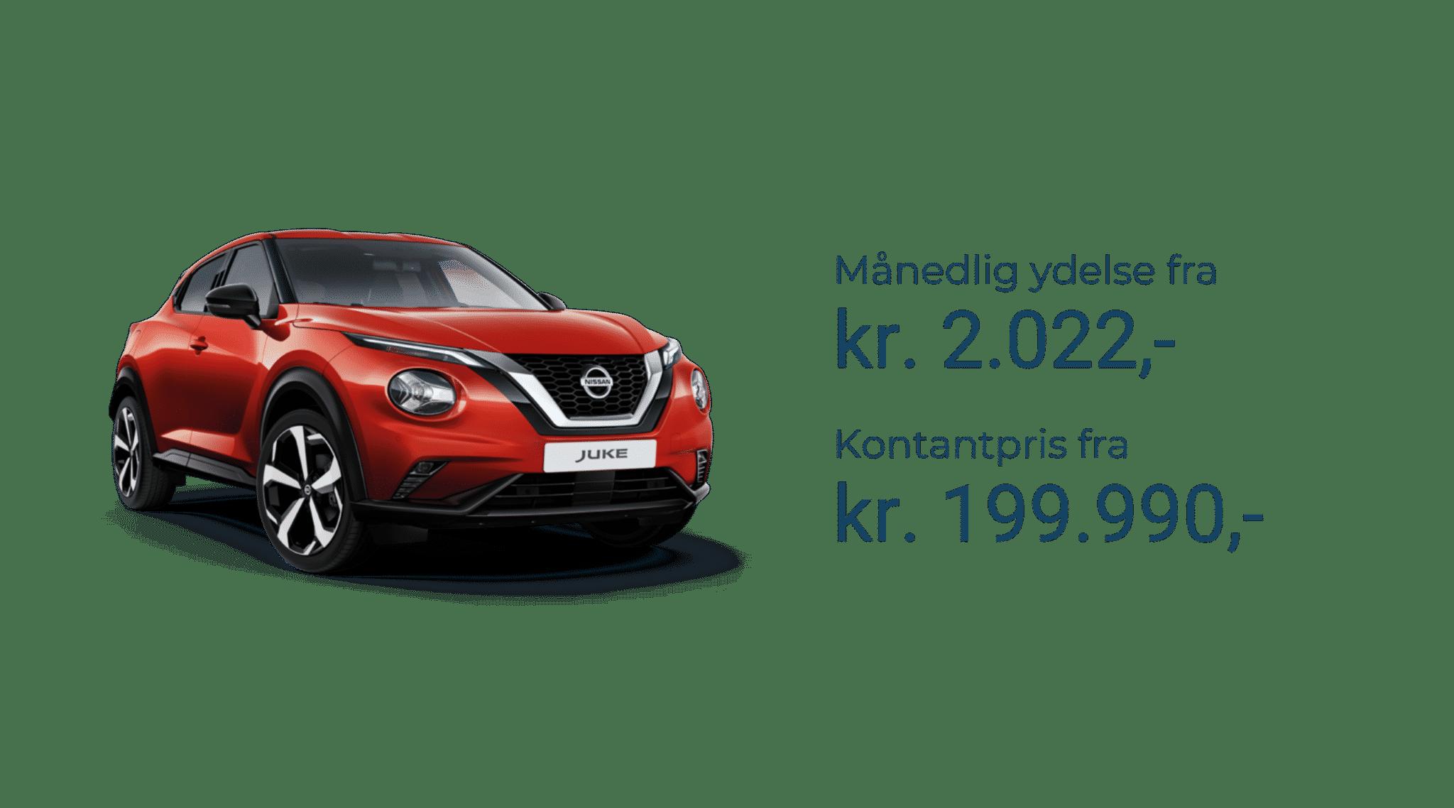 Nissan juke priser