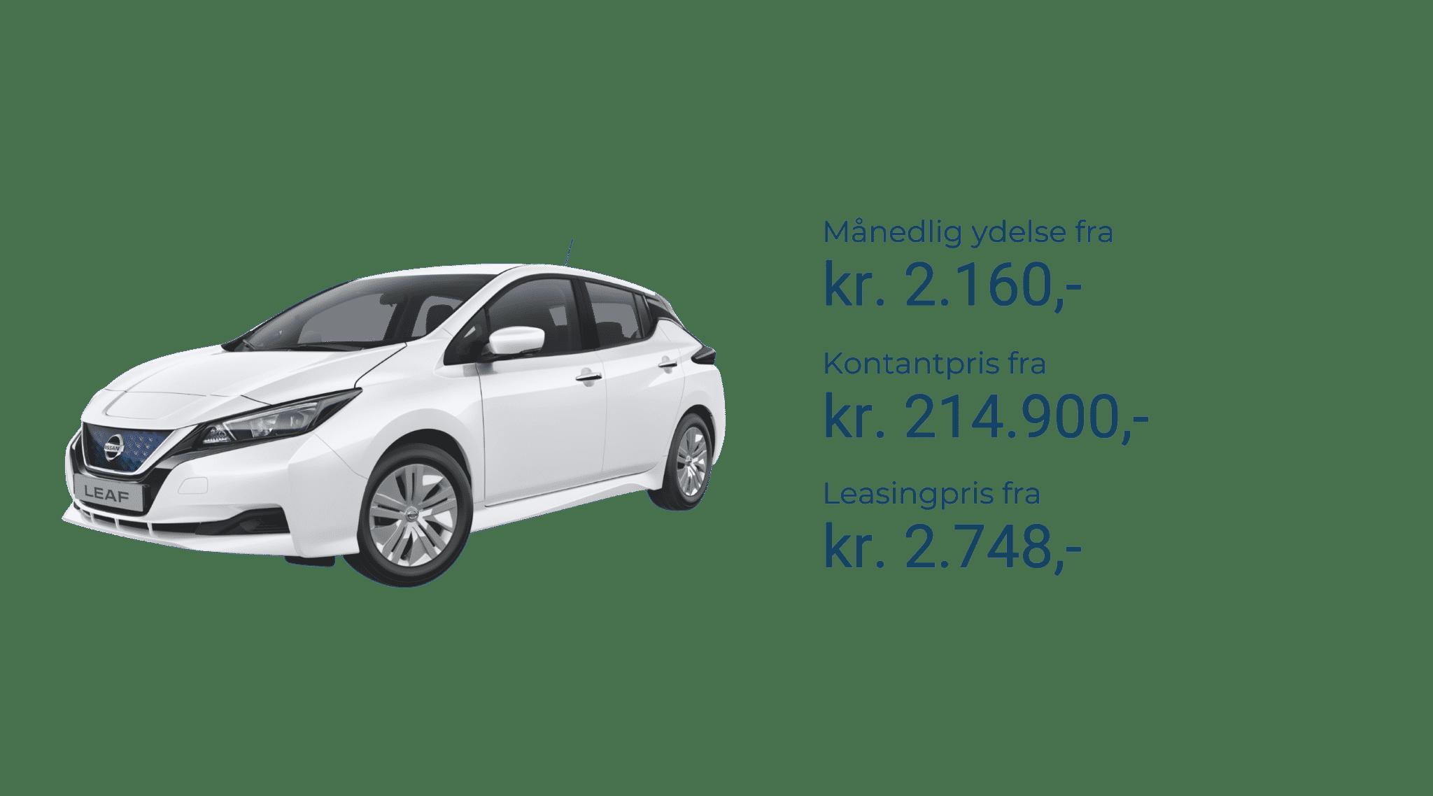 Nissan leaf priser