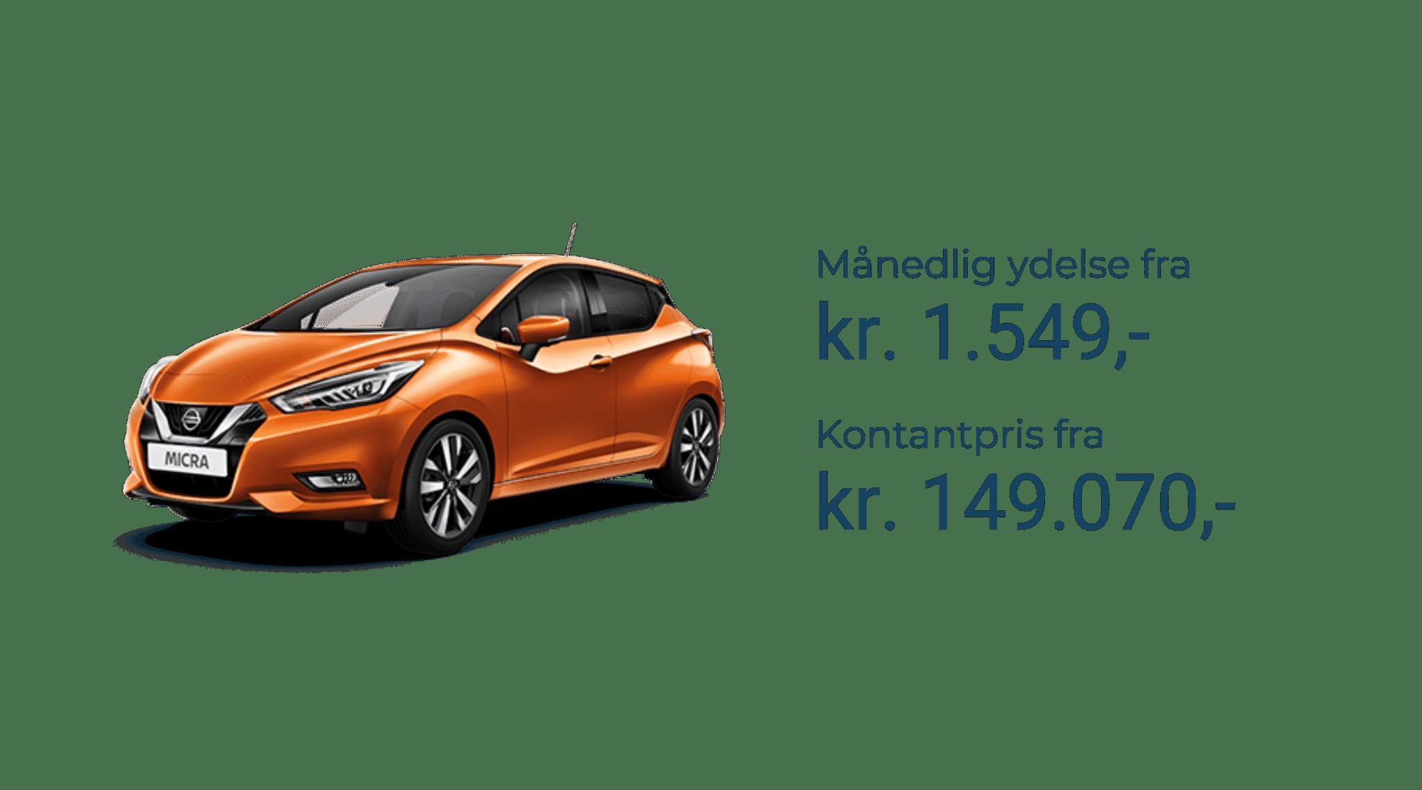 Nissan Micra priser