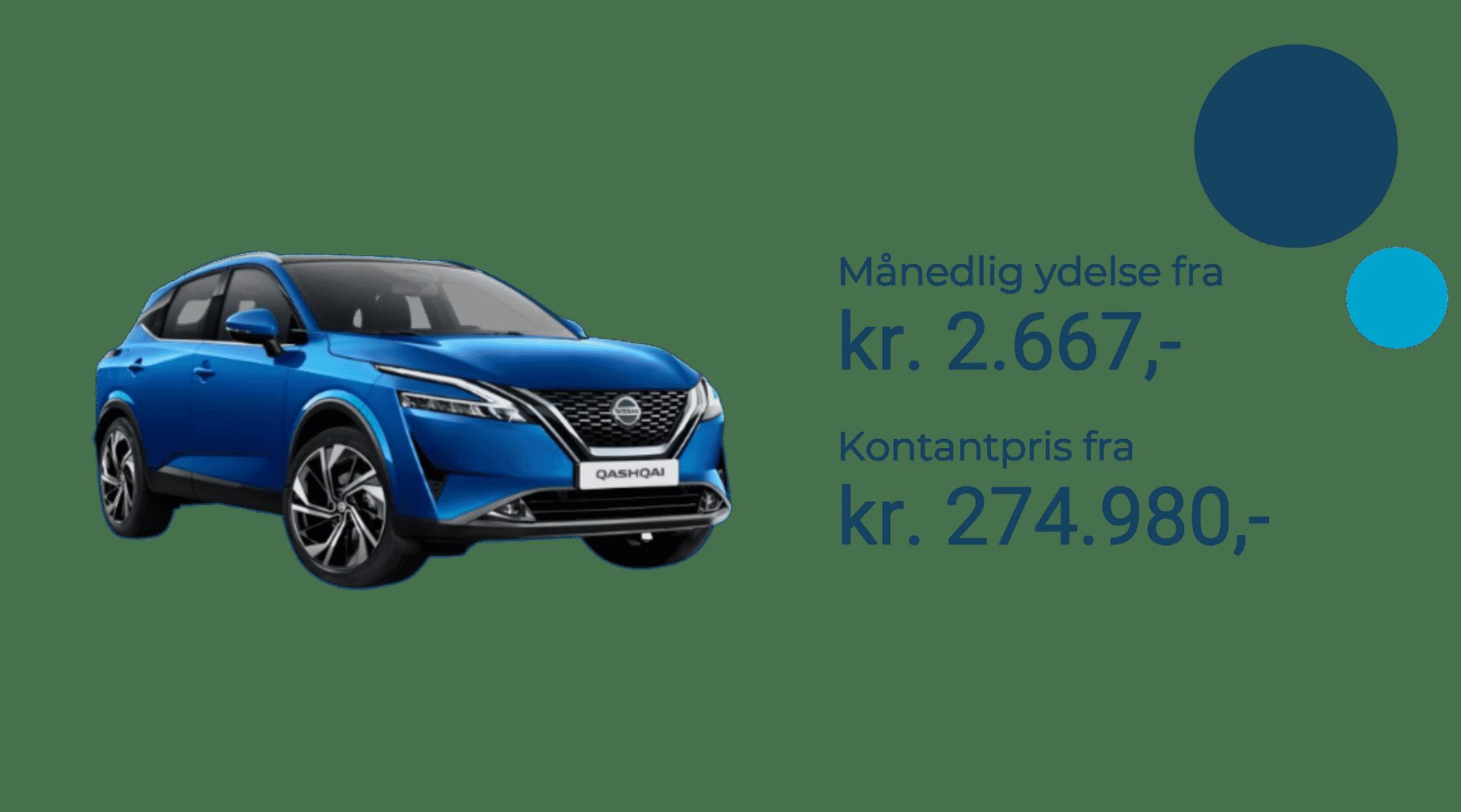 Nissan Qashqai 2021 priser